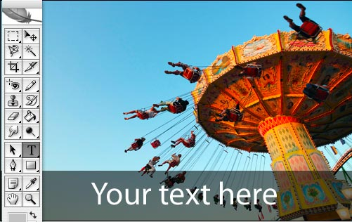 Add text to the Merry Go Round Image