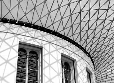 Grids on the British Museum Roof