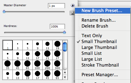 Duplicate the brush