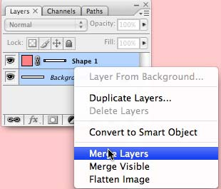 Merging layers