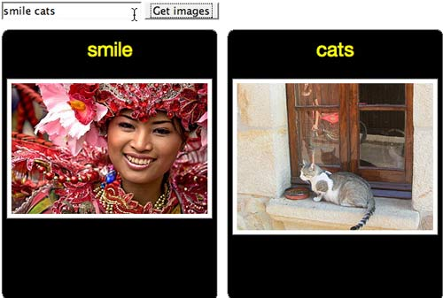 Fetching images from Flickr for users with Intellectual Disabilities