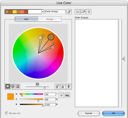 Live Color Panel