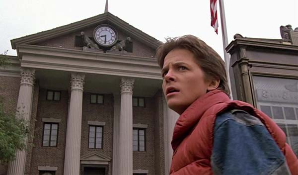 Marty McFly by the clock