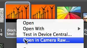 how to open multiple images in camera raw