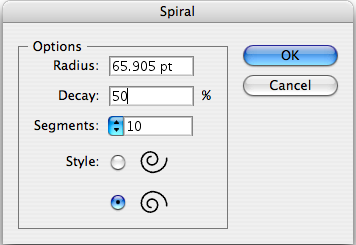 Spiral Tool Options